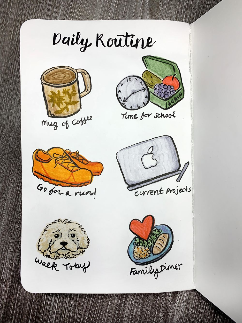 Illustrated Journaling - 14 Prompts - image 5 - student project