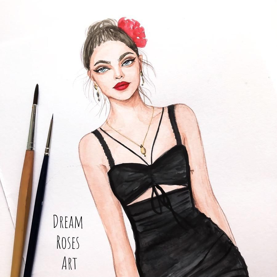 Sketch 3 Fashion Illustrations - image 1 - student project
