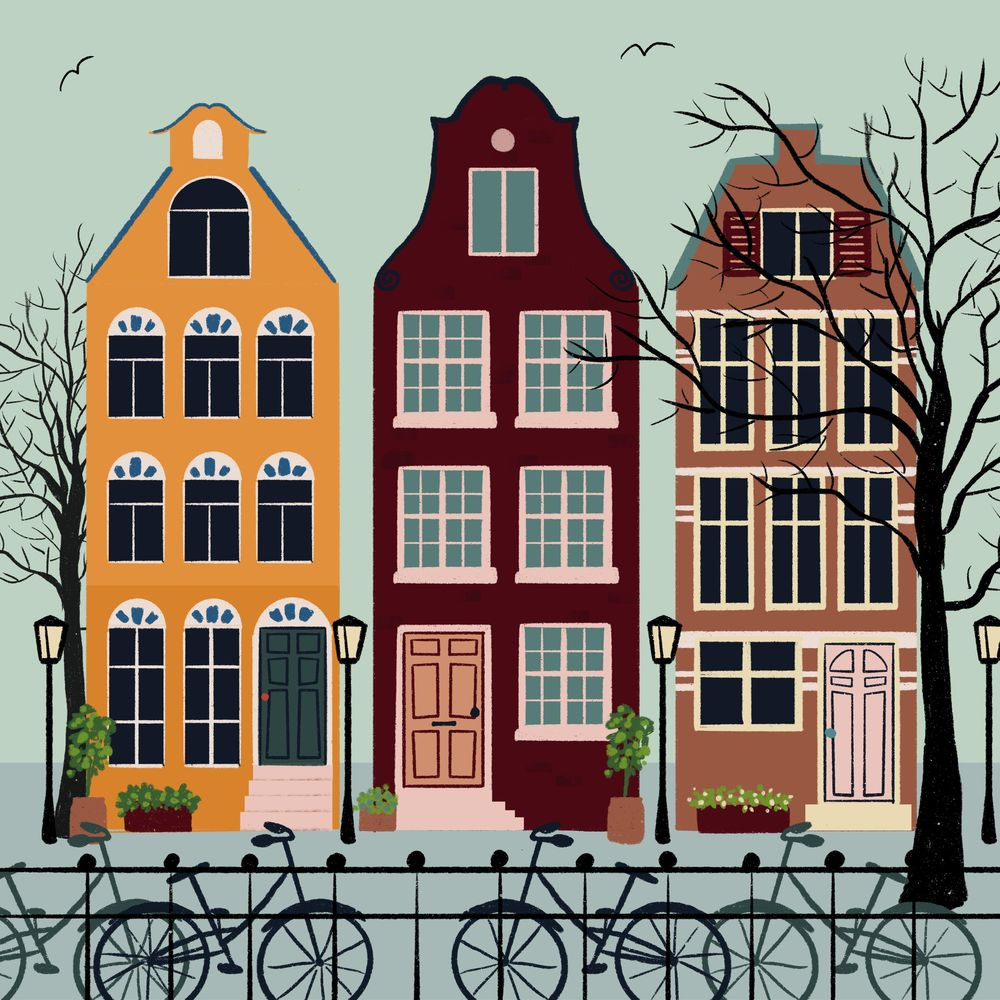 Colorful houses - image 1 - student project