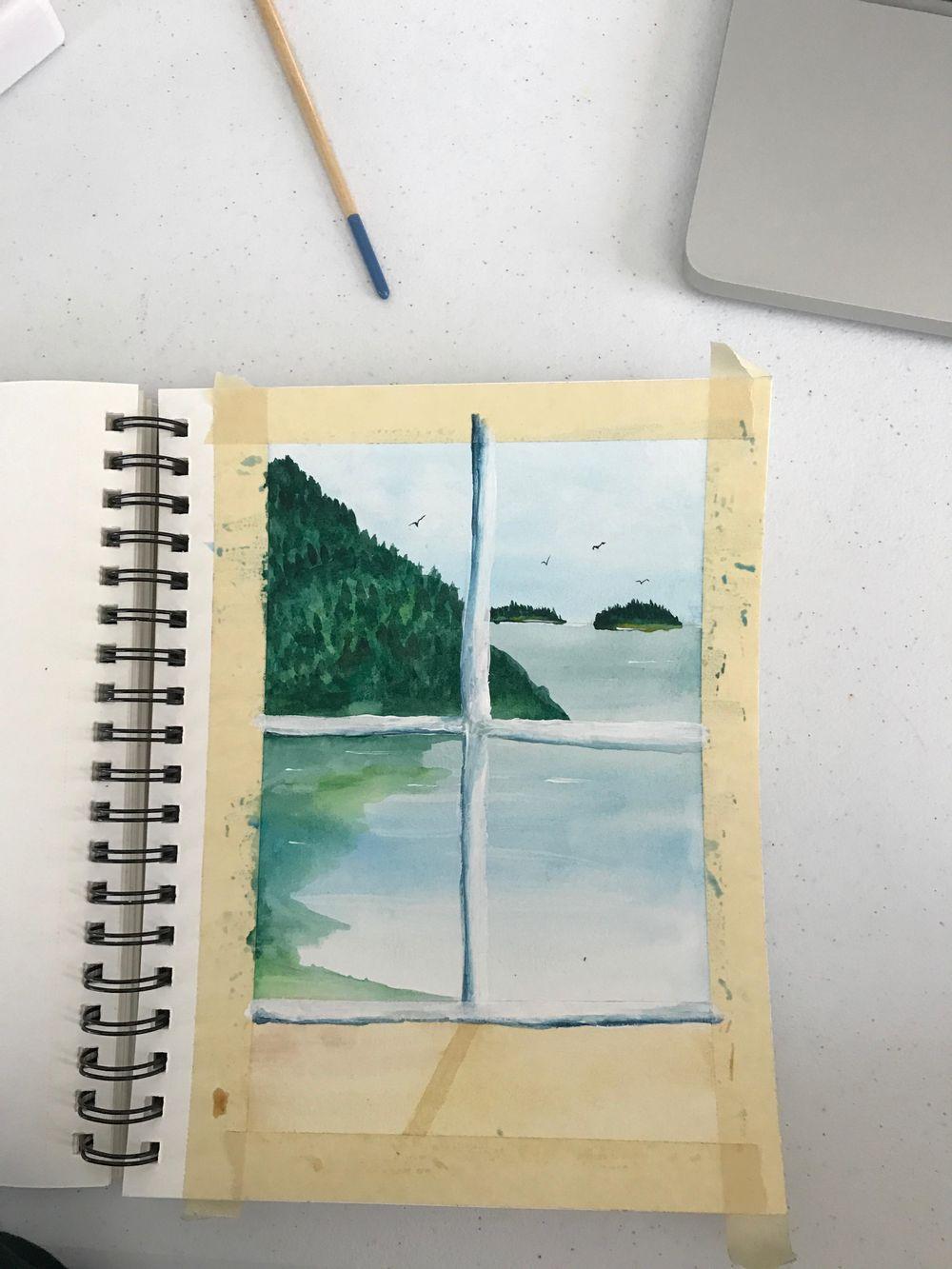coastal painting - image 1 - student project