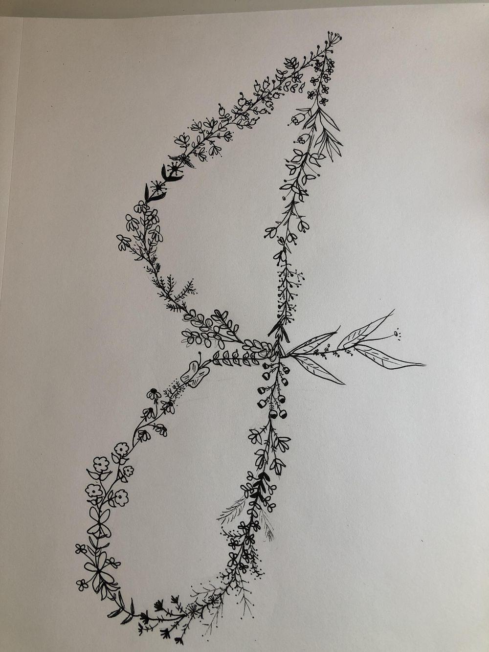 Letter floral doodle - image 1 - student project