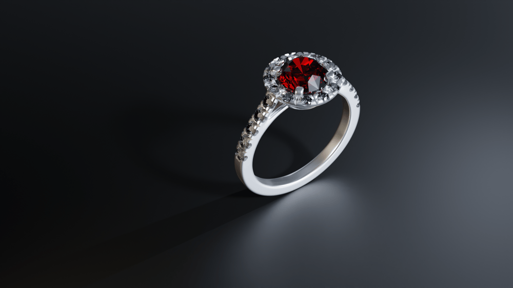 Ruby & Dimond Ring - image 1 - student project