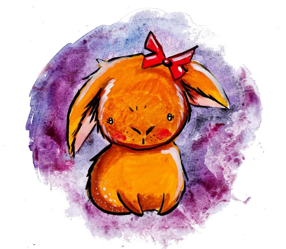 Cute bunny mixed media - image 1 - student project