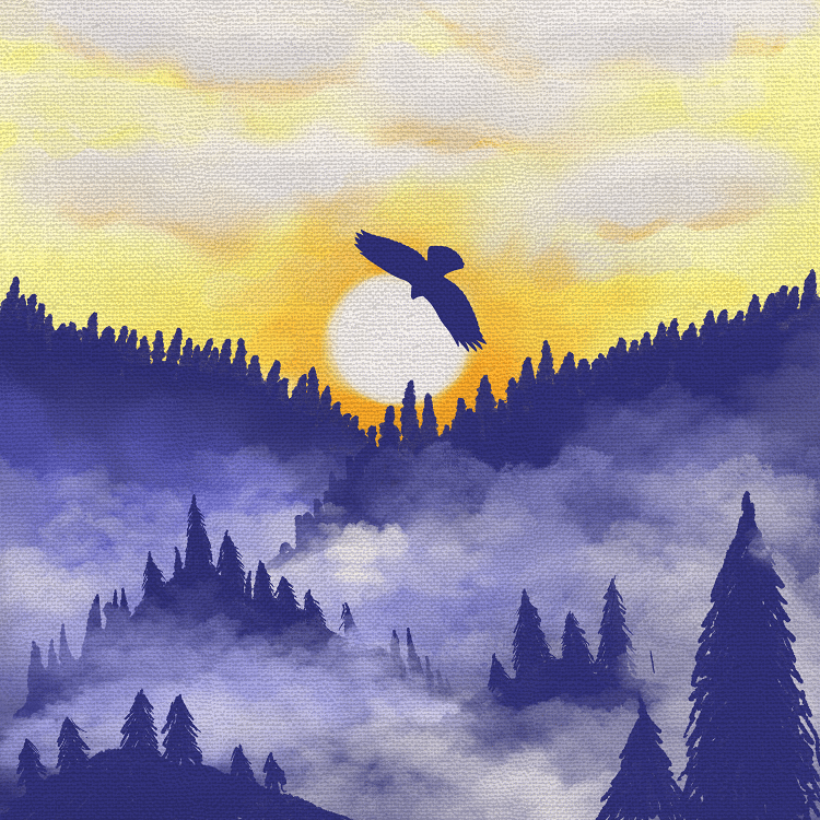 Sunrise Forest - image 1 - student project