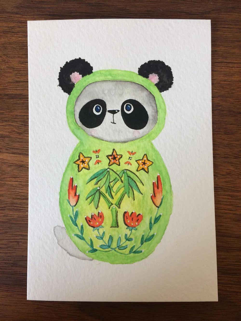 Panda Nesting Doll - image 1 - student project