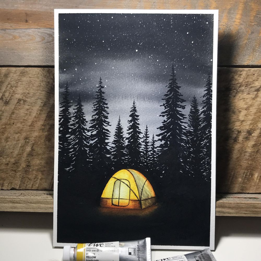 Camping amid the evergreens - image 2 - student project