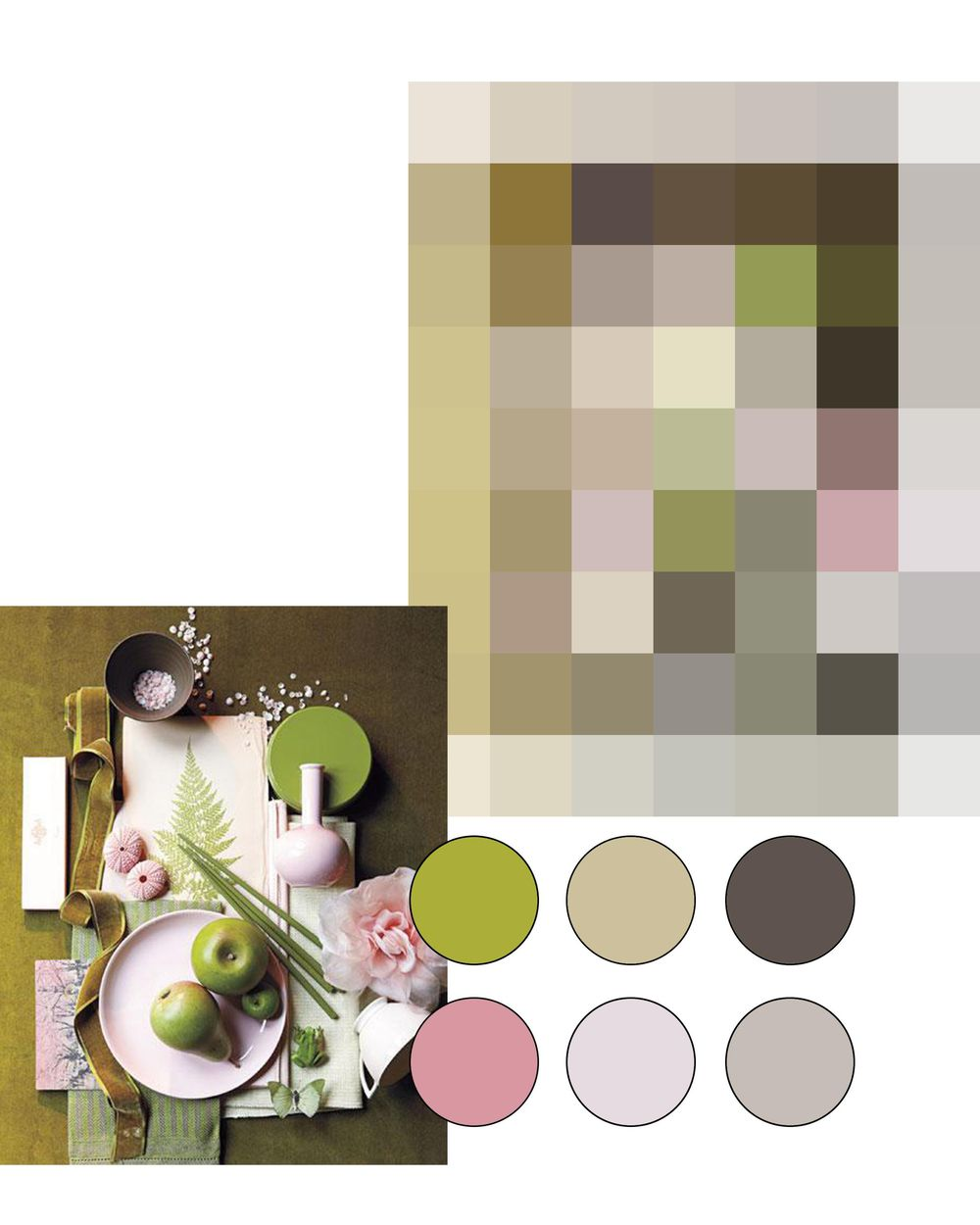 Green an pink colour palette - image 1 - student project