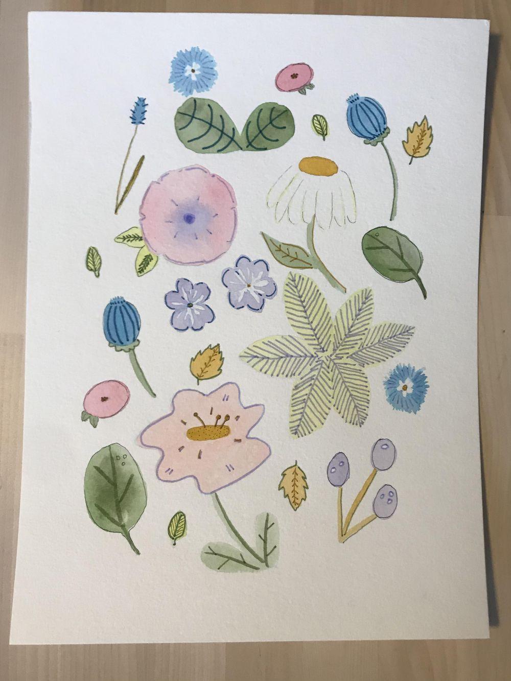Brush Pen Florals! - image 1 - student project