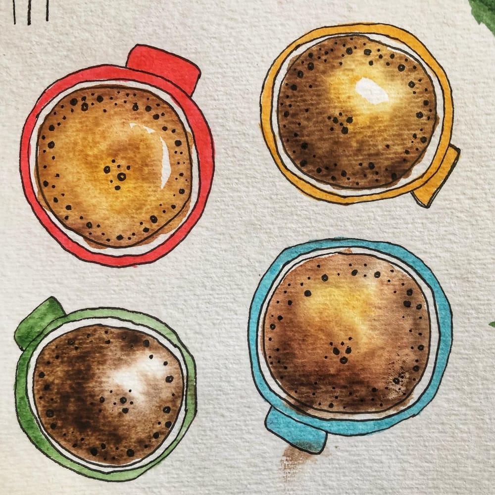 Coffee Break Watercolour - image 1 - student project