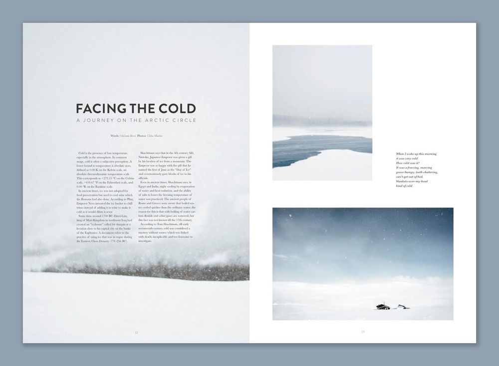 My very first magazine layout for print! - image 1 - student project