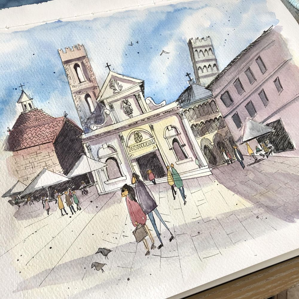 Urban Sketching - Lucca - image 1 - student project