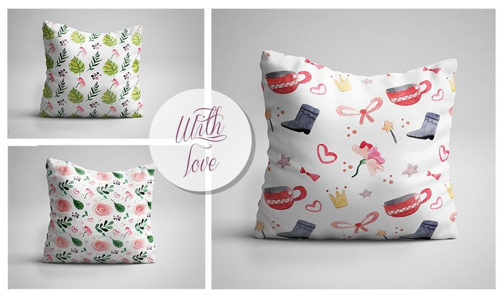 WITH LOVE...  Greetings cards and Pillows  - image 7 - student project