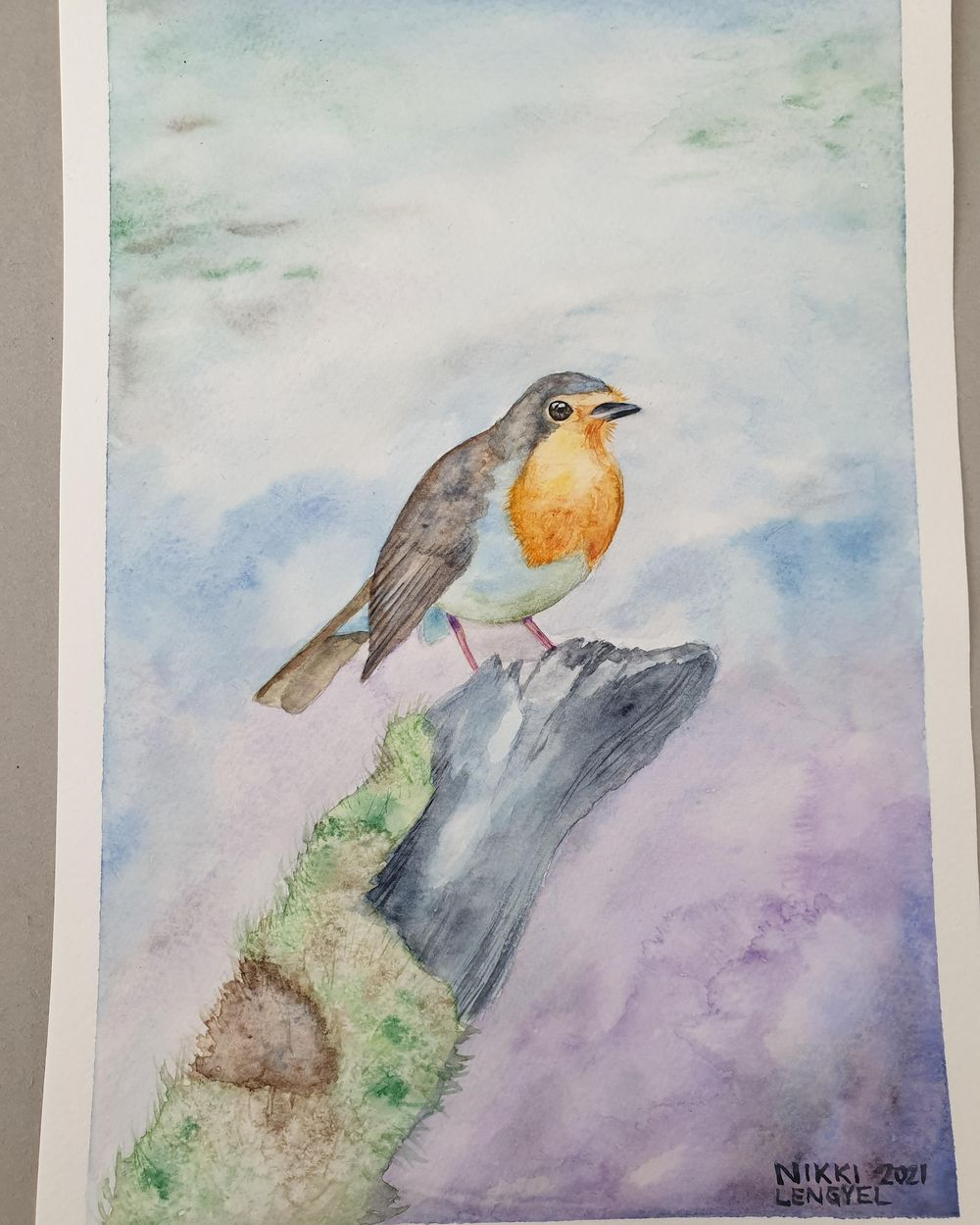 Watercolor Robin - image 1 - student project