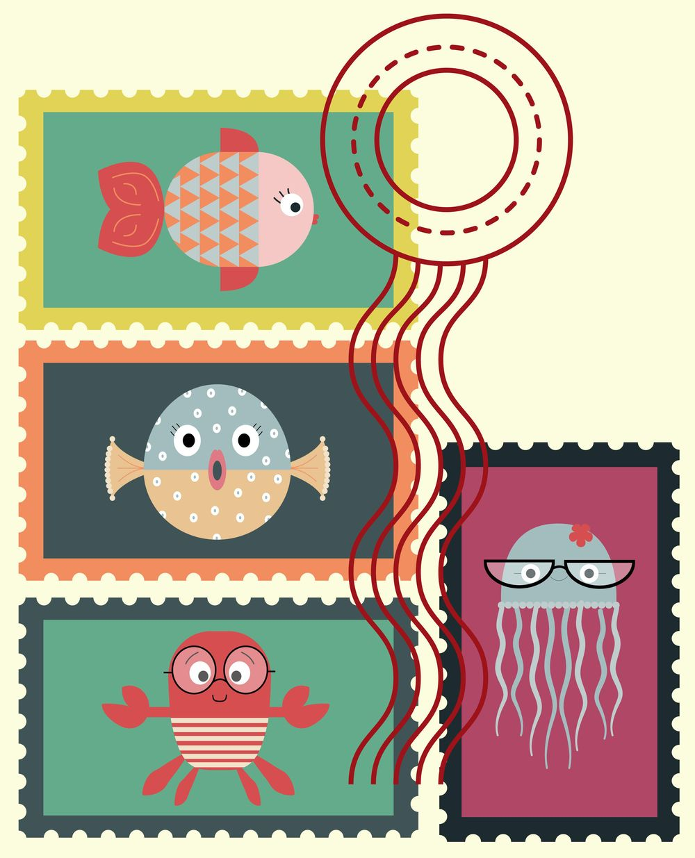 FISHED STAMPS - image 1 - student project