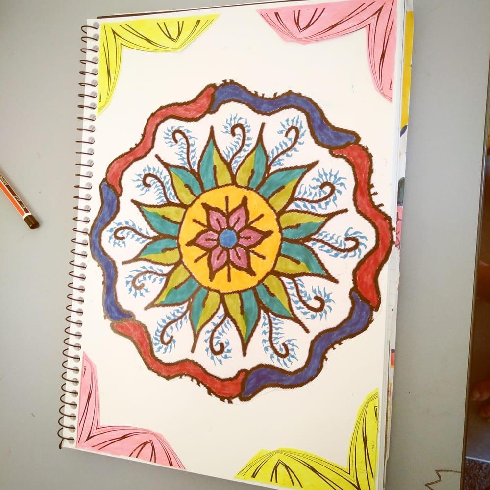 Botanical fruit mandala - image 2 - student project