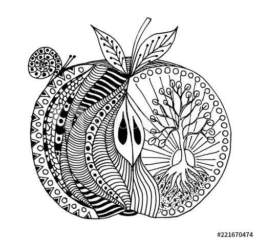 Botanical fruit mandala - image 1 - student project