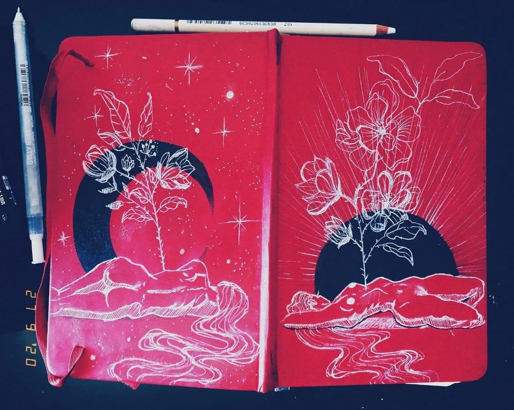 Sketchbook cover - image 1 - student project