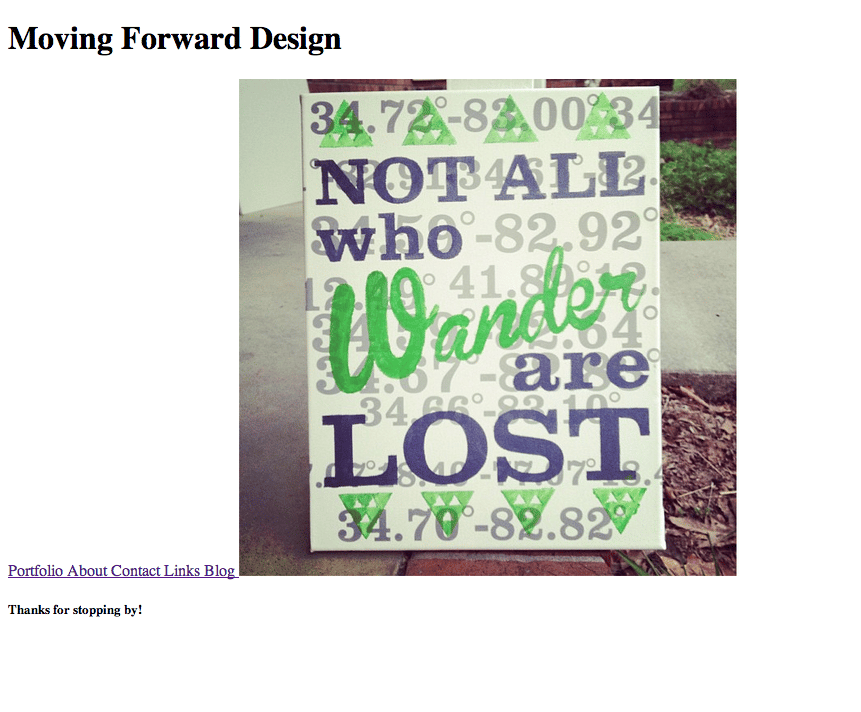 Moving Forward - image 1 - student project