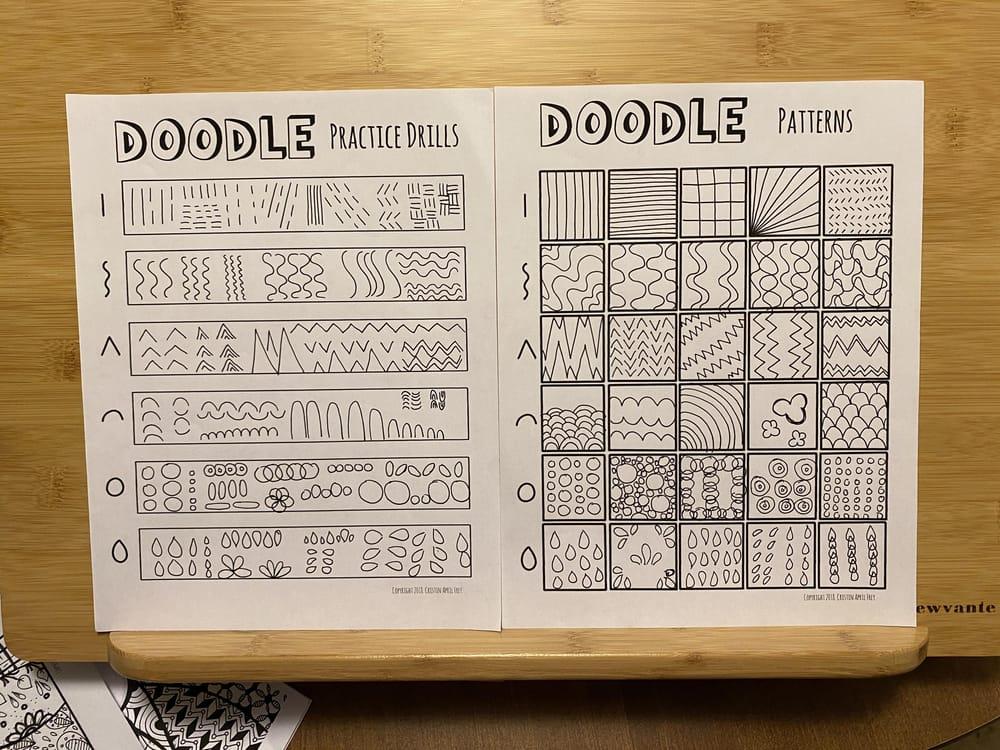 Doodling worksheets - image 3 - student project