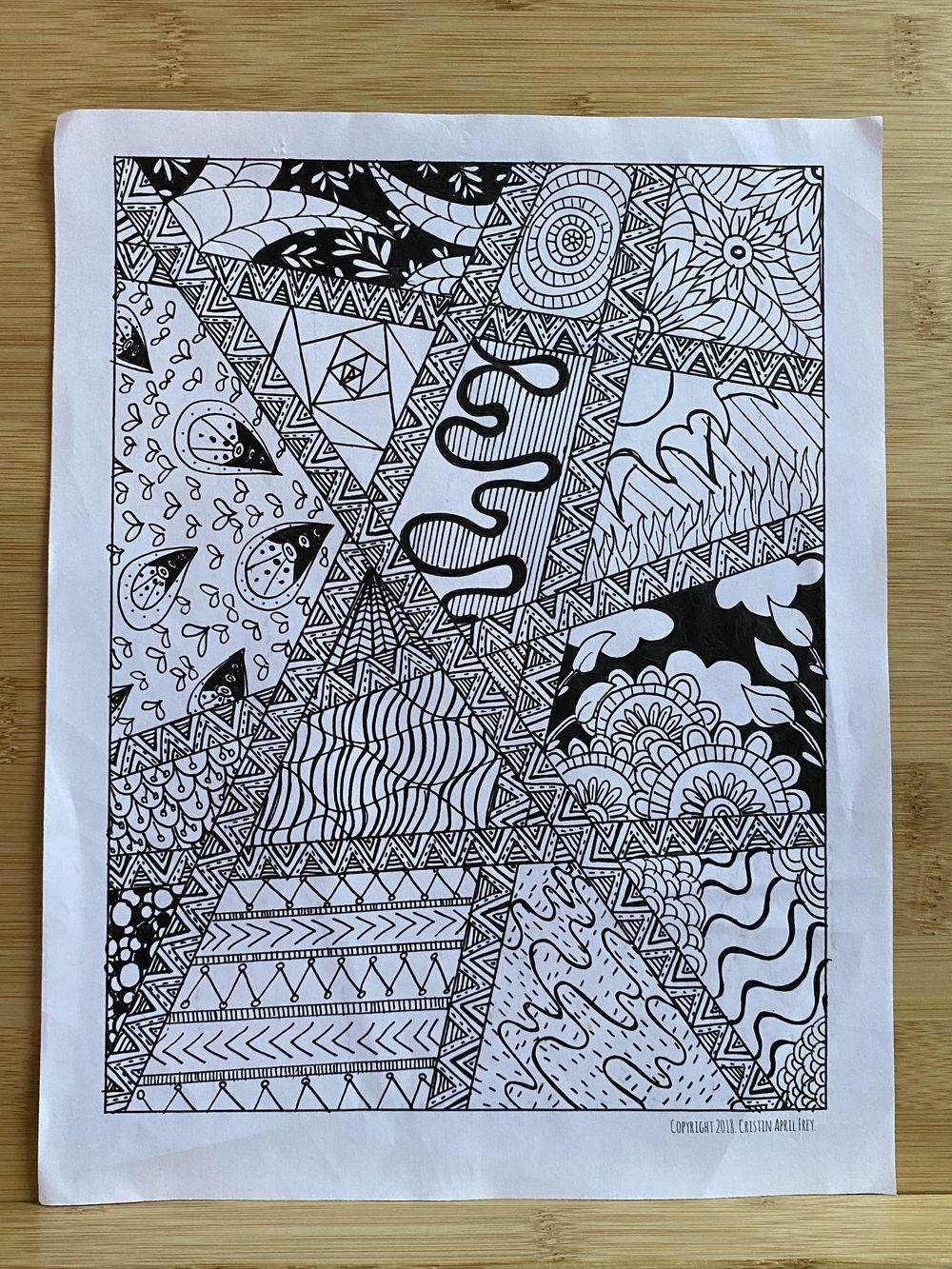 Doodling worksheets - image 1 - student project
