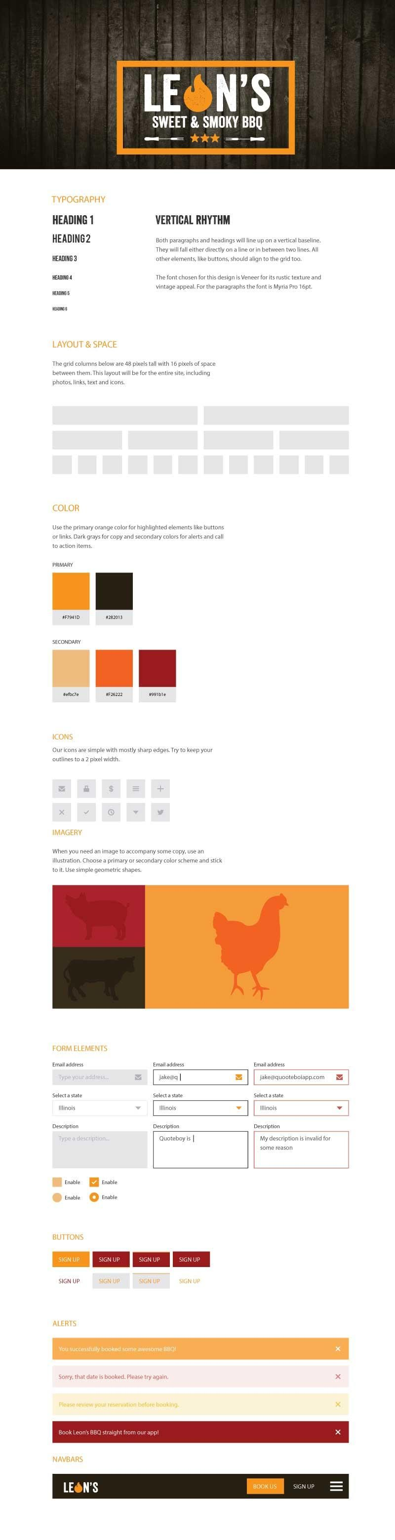 Leon's BBQ Style Guide - image 1 - student project