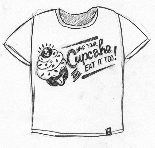 Johnny Cupcakes Tshirt - image 1 - student project