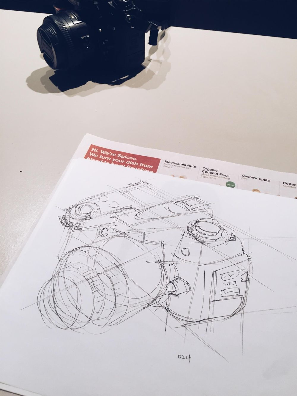 Sketching a DSLR - image 3 - student project