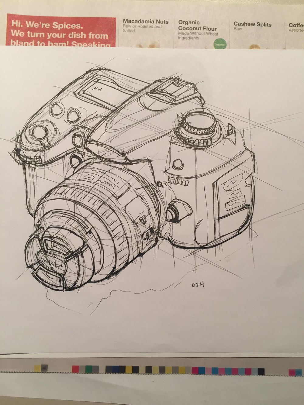 Sketching a DSLR - image 4 - student project