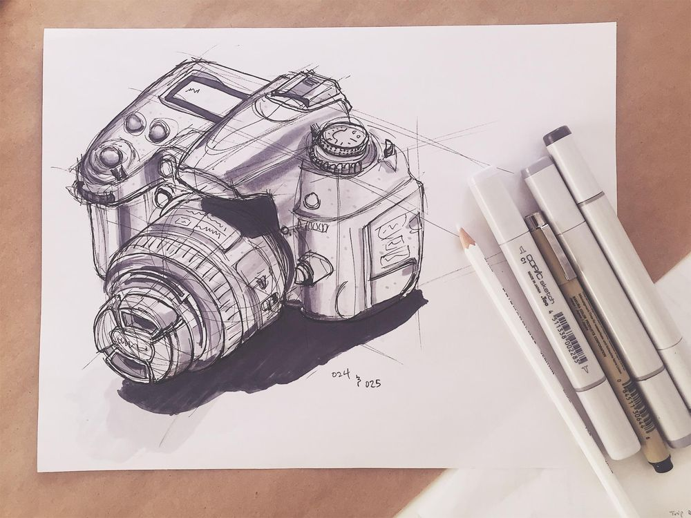 Sketching a DSLR - image 5 - student project