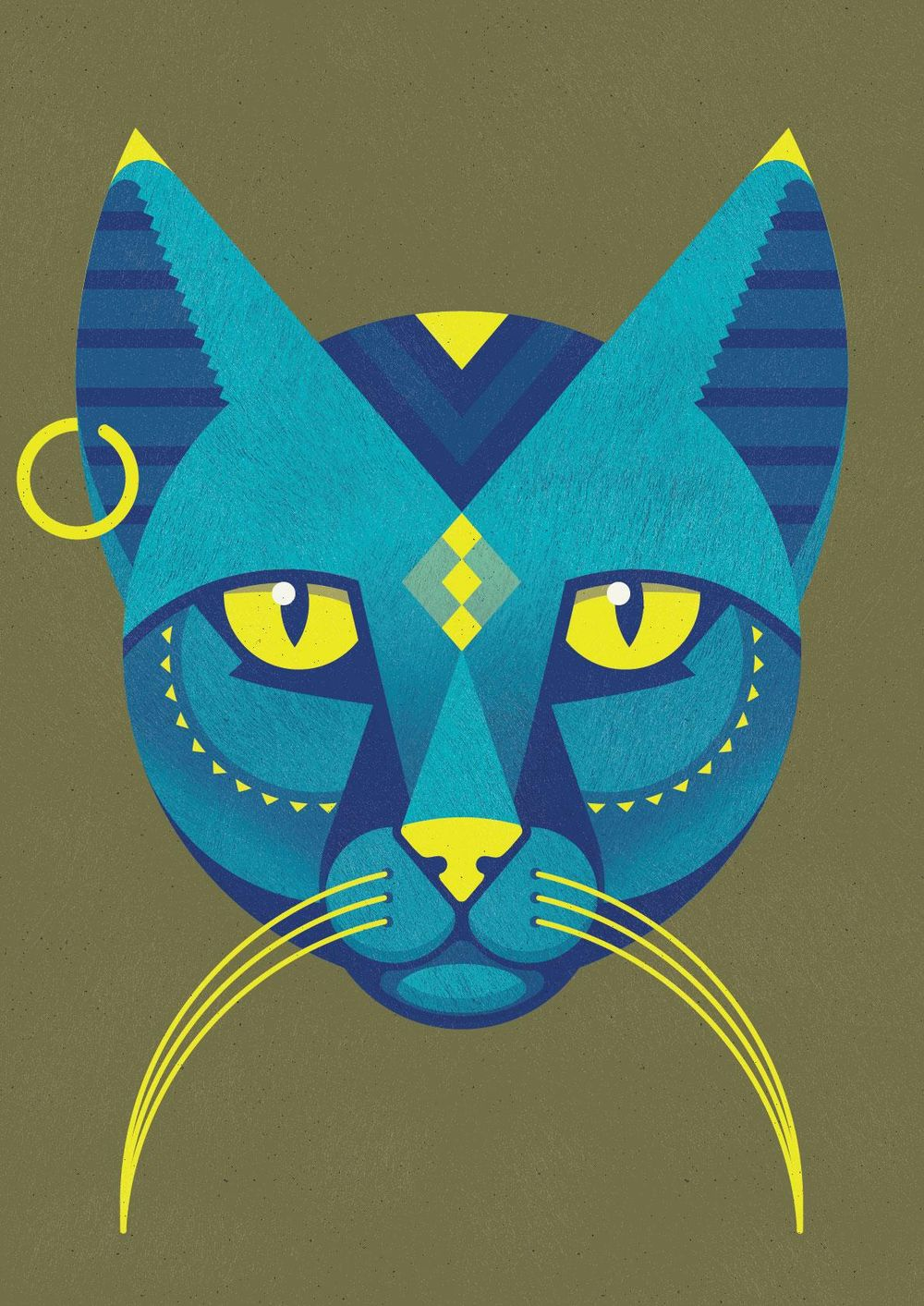 Egyptian inspired cat god - image 1 - student project