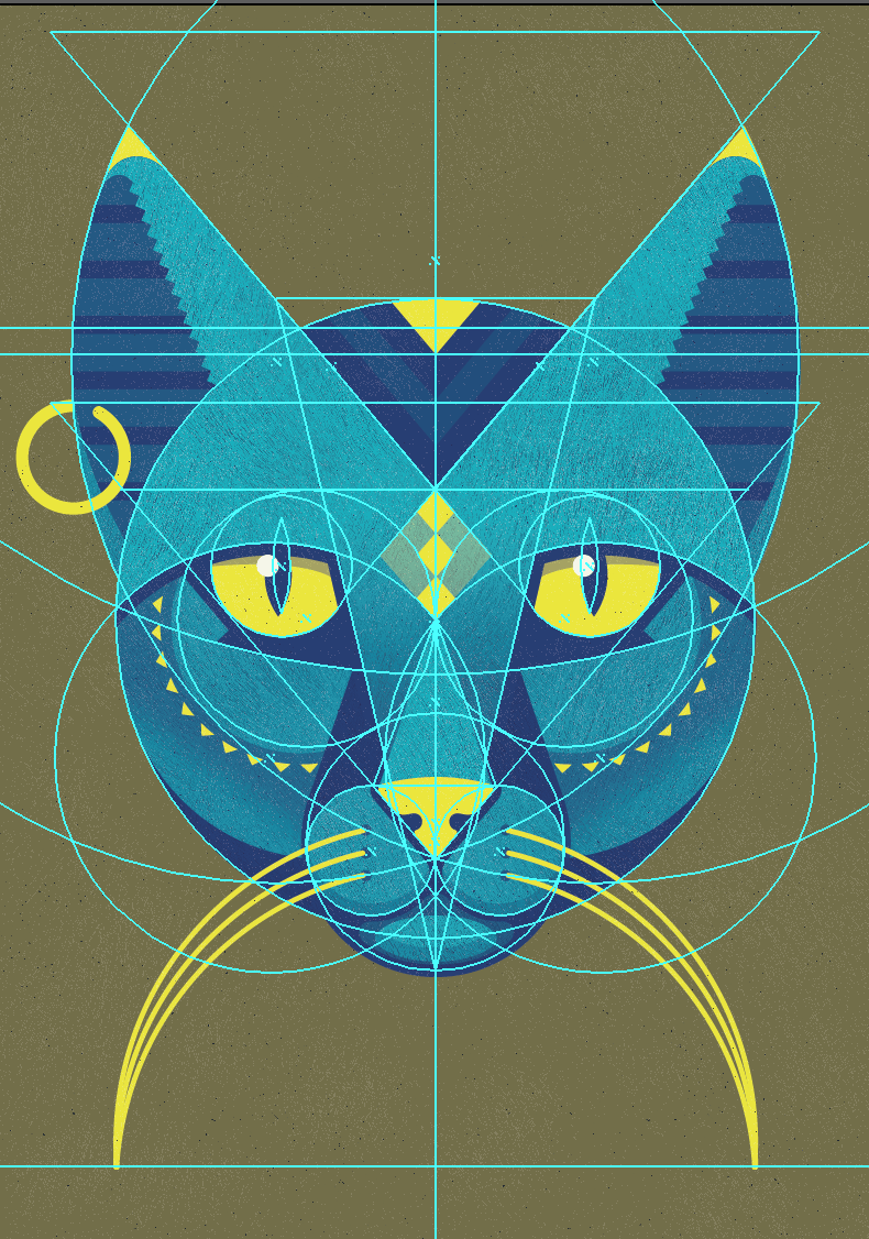 Egyptian inspired cat god - image 7 - student project