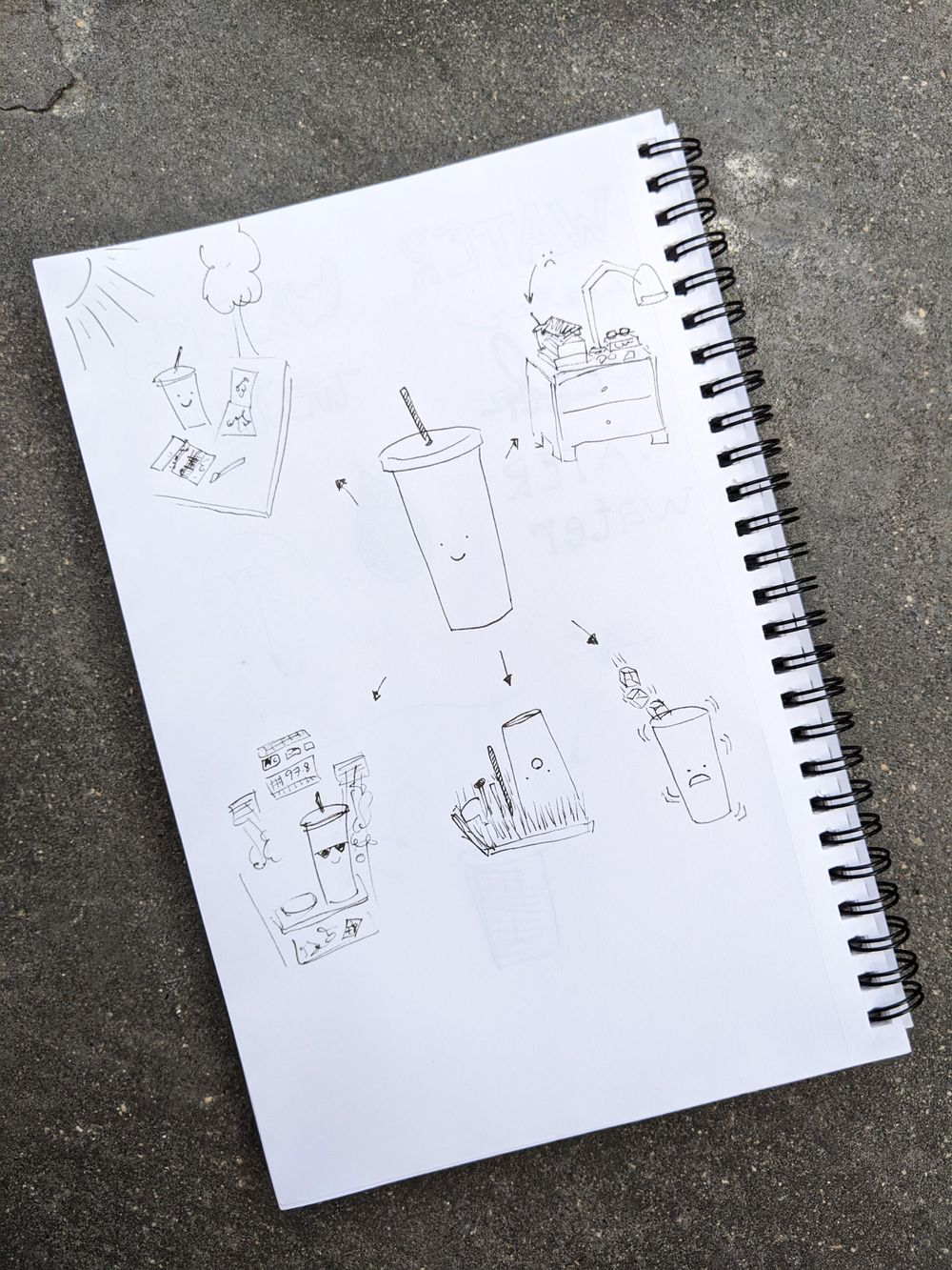 Water Cup Doodles - image 1 - student project