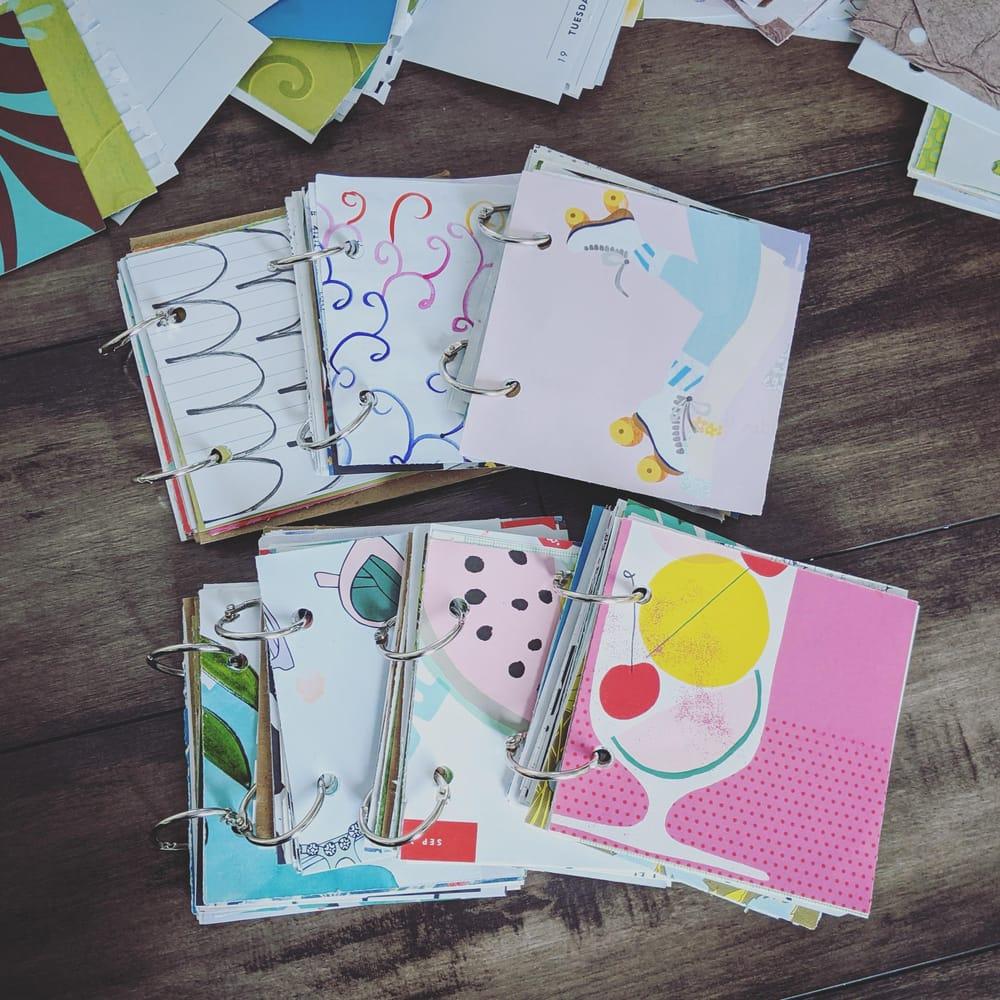 Mini square junk journals - image 2 - student project
