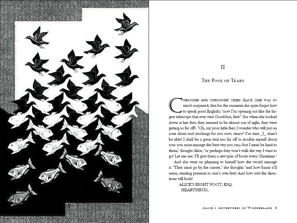 Alice in Wonderland (with illustrations by M.C. Escher) - image 4 - student project