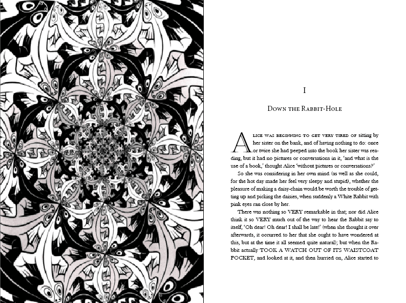 Alice in Wonderland (with illustrations by M.C. Escher) - image 2 - student project