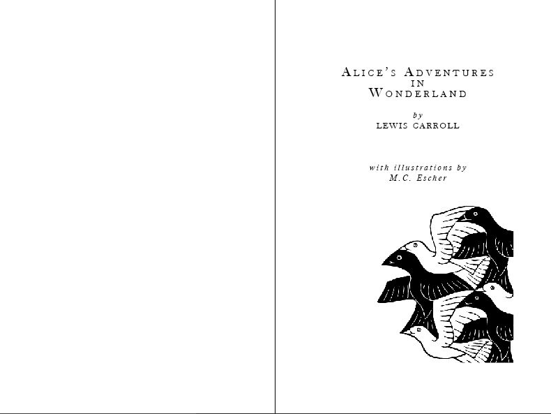 Alice in Wonderland (with illustrations by M.C. Escher) - image 1 - student project