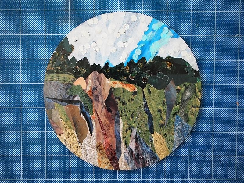 Jagged Mountain Scene - image 1 - student project