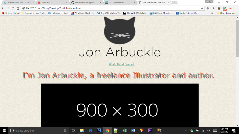 My Jon Arbuckle site - image 1 - student project