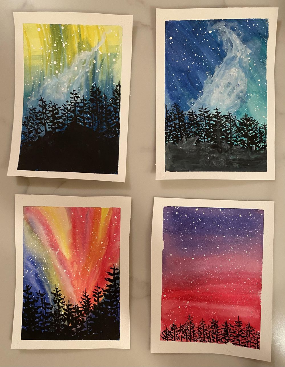 Northern Lights and Pine Tree Practice - image 1 - student project