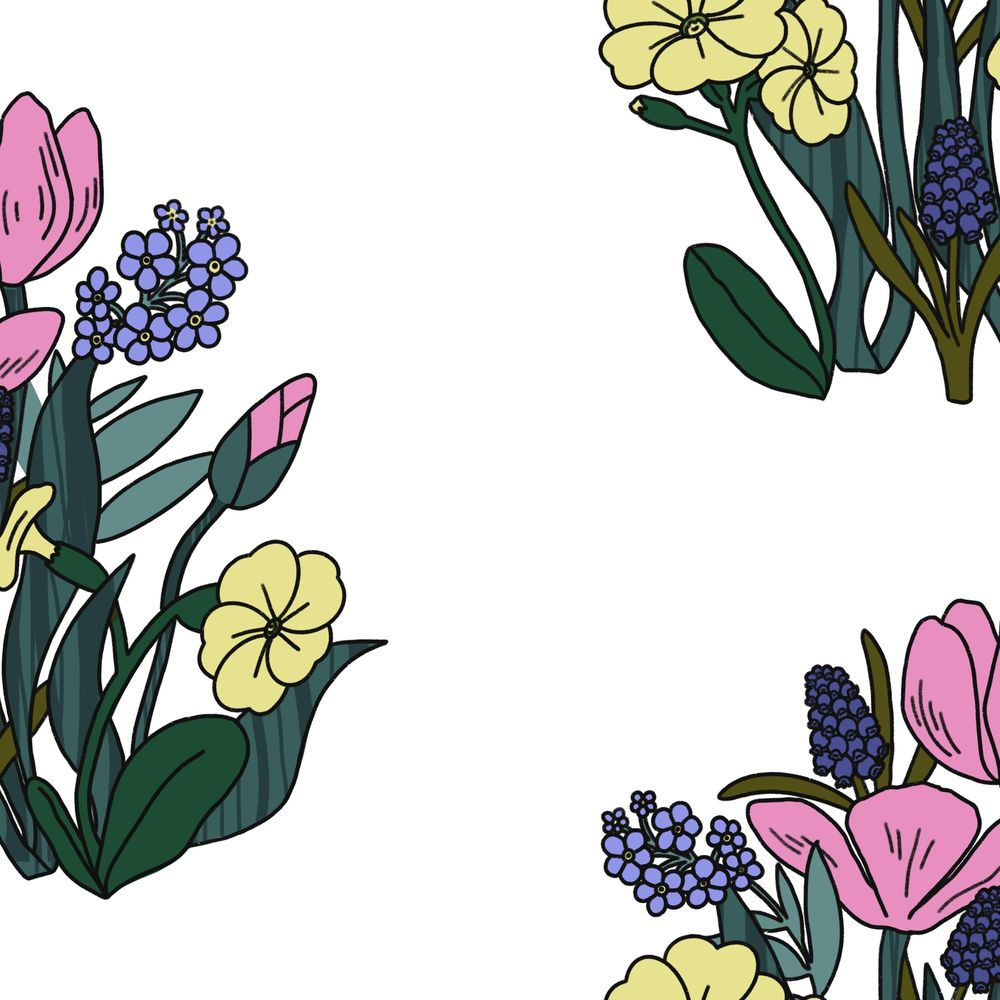 Create a Dense, Floral, Half Drop Pattern in Procreate - image 1 - student project
