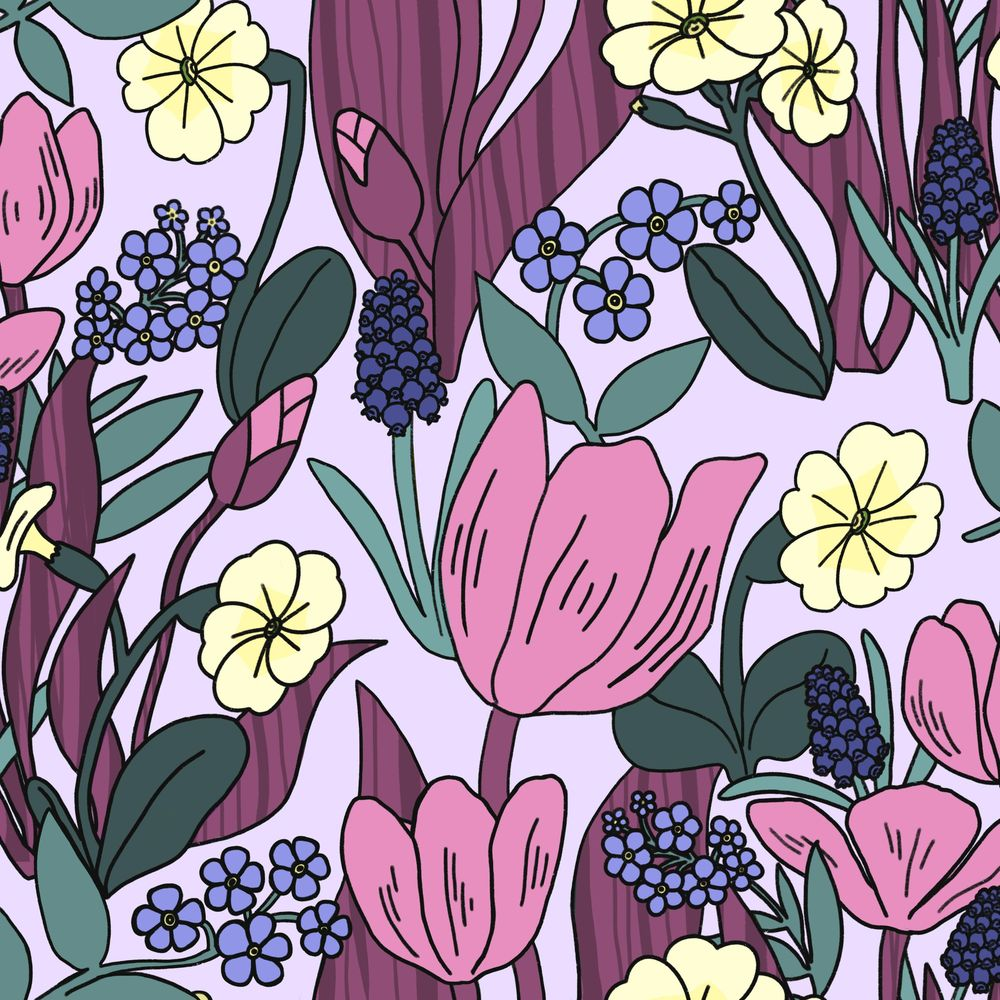 Create a Dense, Floral, Half Drop Pattern in Procreate - image 5 - student project