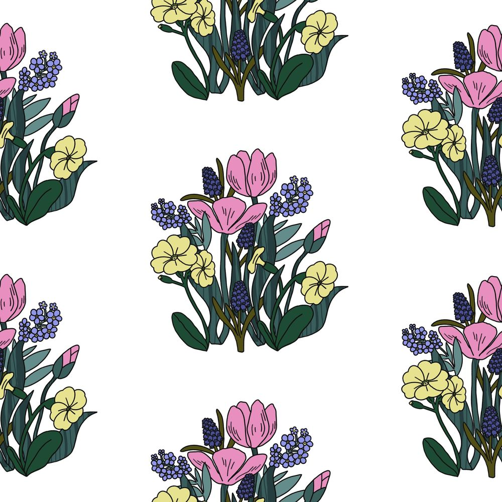 Create a Dense, Floral, Half Drop Pattern in Procreate - image 2 - student project
