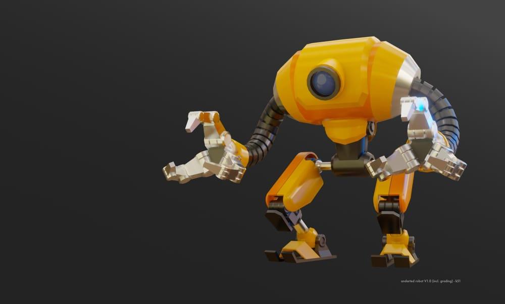 Robot - Blender (3D Modeling and Look Dev.) - image 1 - student project