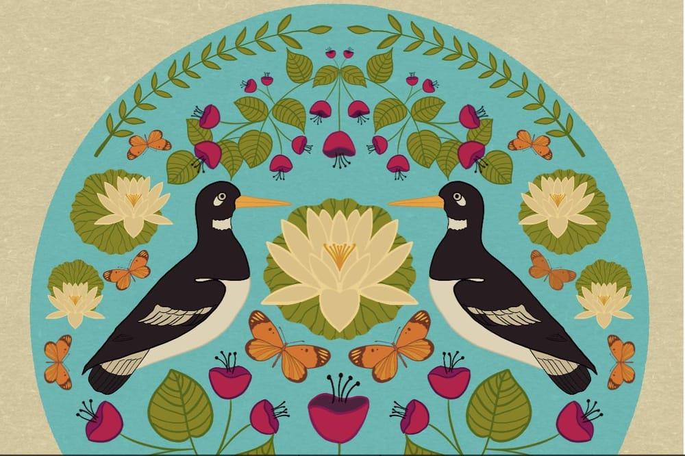 Folk illustration art - image 1 - student project