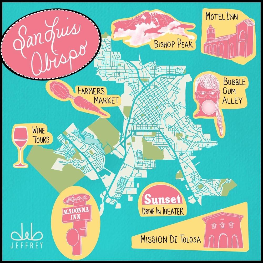 Map of San Luis Obispo. California - image 1 - student project