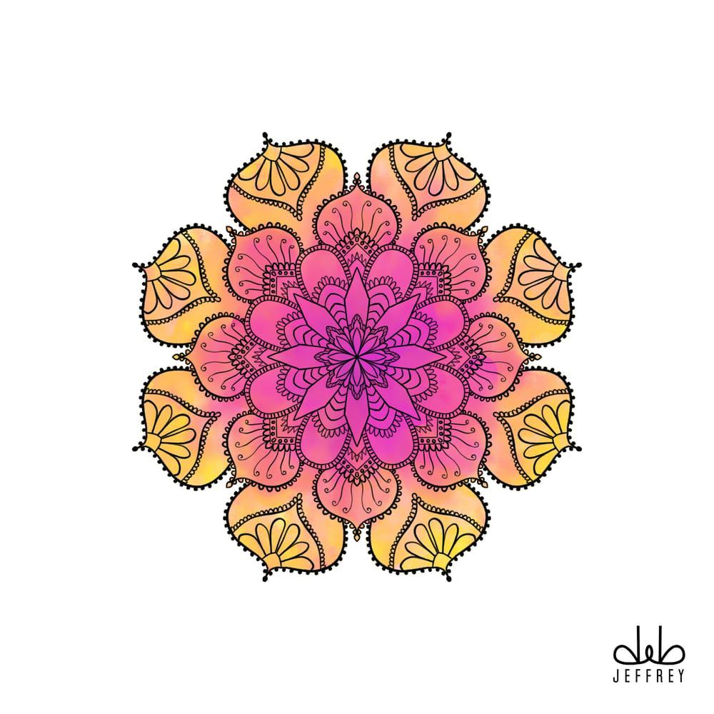 Watercolor Mandala - image 1 - student project