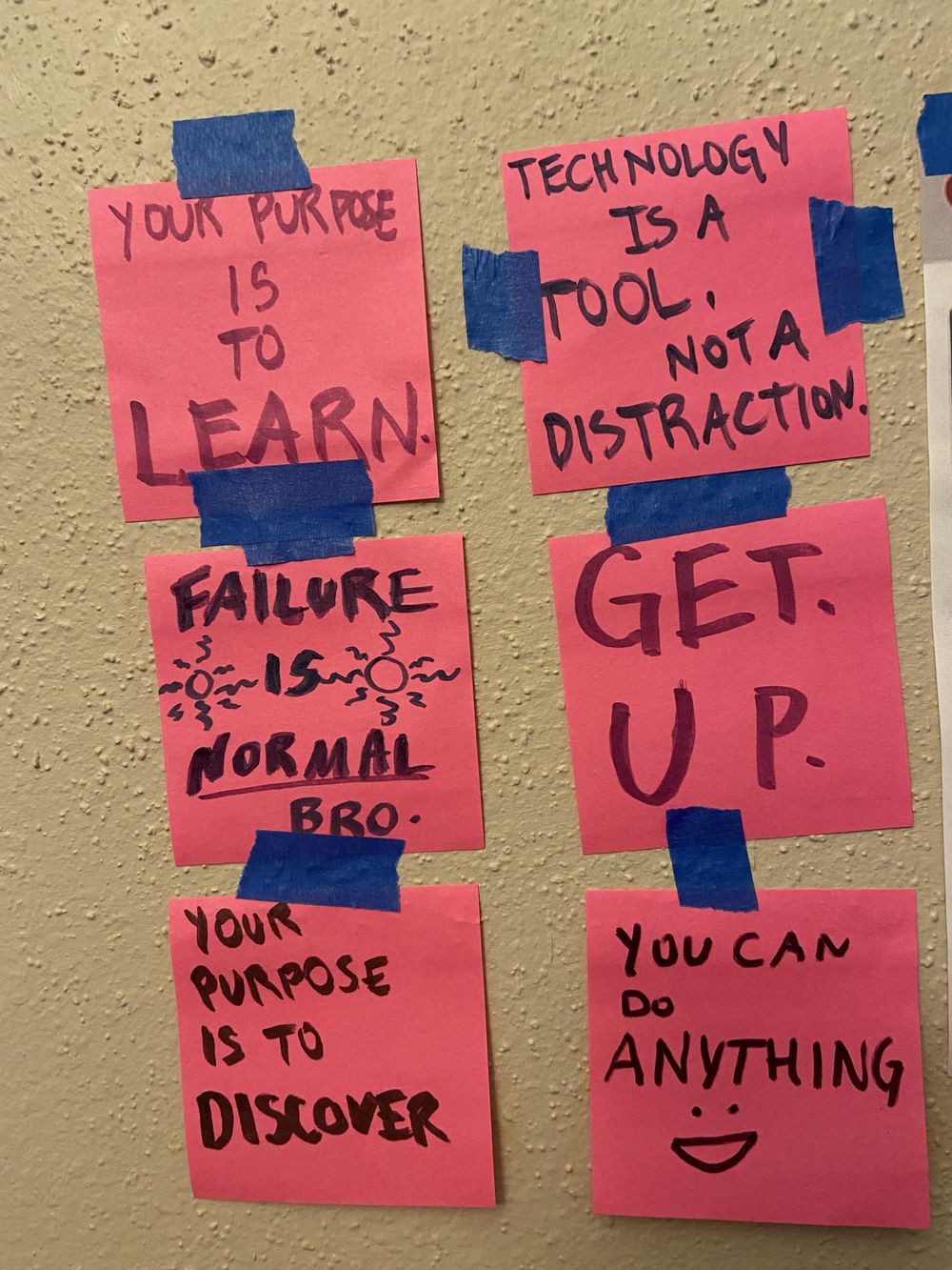 Affirmation stickies - image 2 - student project