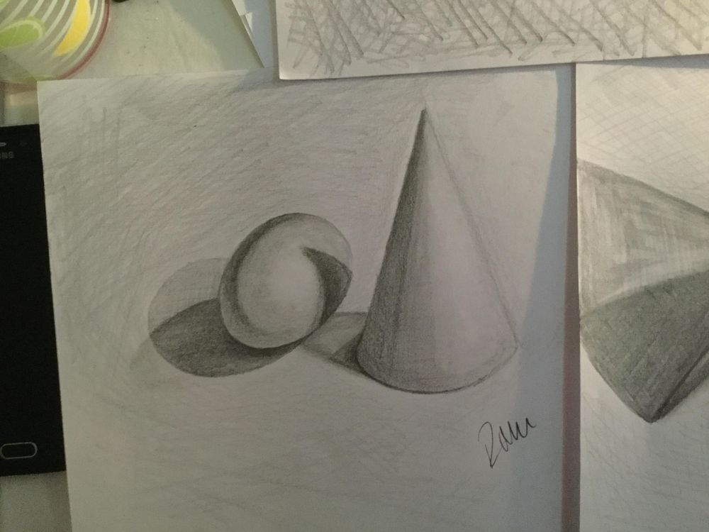 Egg and cone light/shade practice - image 2 - student project