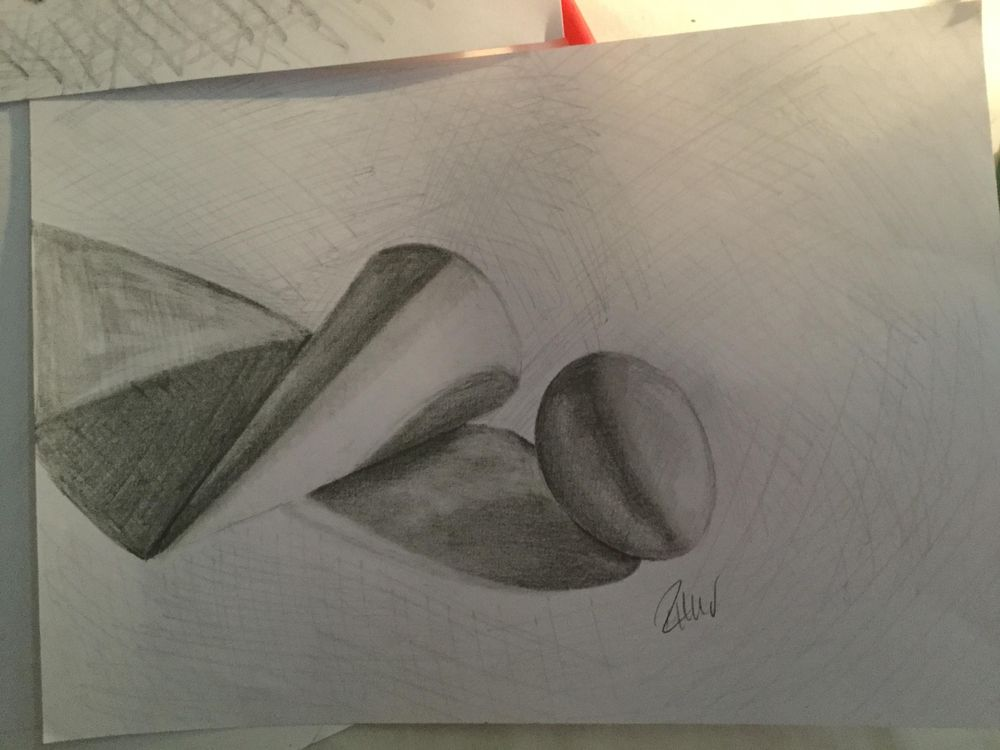 Egg and cone light/shade practice - image 3 - student project