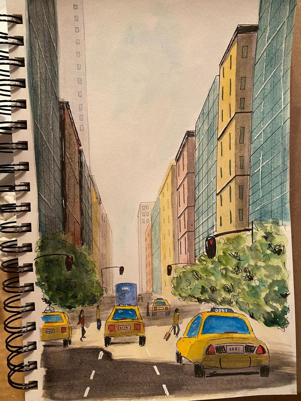NY One point perspective - image 1 - student project